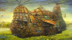 ジブリ!? リトアニアのアーティストの絵がまるでハウルの動く城!