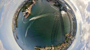 ステレオ投影で、町を一つの惑星にしてみたら、惑星旅行の気分!15選!!