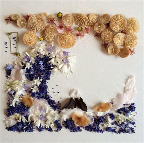 植物だけで作る芸術! ブリジット・ベス・コリンズの花びらアートがオシャレ!