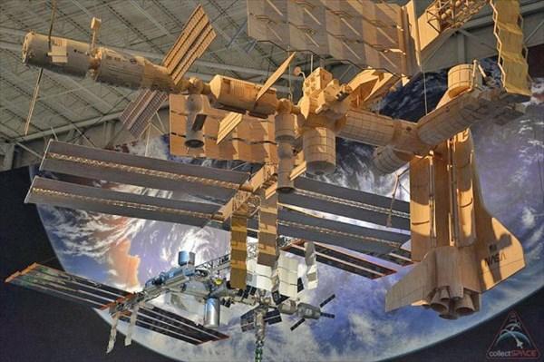 マッチ棒で作った国際宇宙ステーション