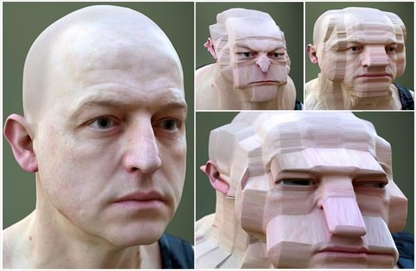 Let's幾何学変形! 人間の顔をCGで変形させる新アート!
