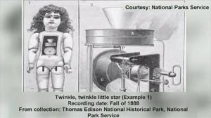 視聴注意! 発明王エジソンが、125年前に作った不気味な声をあげる人形