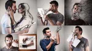 セバスチャン·デル·グロッソによる写真とスケッチのコラボ作品20枚!!