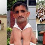 左右の肩をくっつける!? インドのゴム、肩でCDを割り人間ギネス記録認定!!