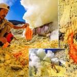 世界最悪の仕事!? 毒ガスを吸いながら働くインドネシアの硫黄鉱山労働者
