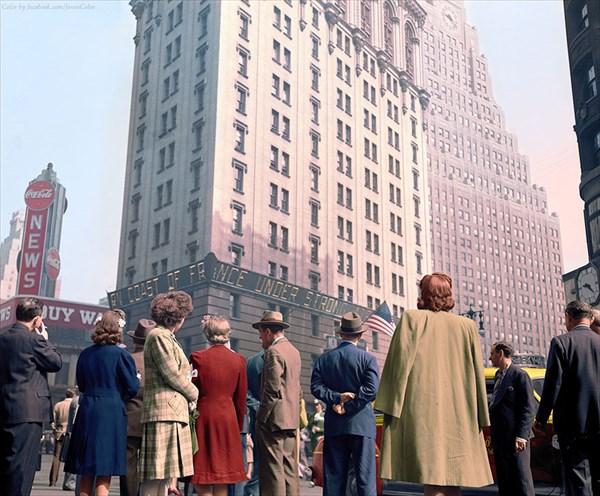 1944年、タイムズスクエアビル