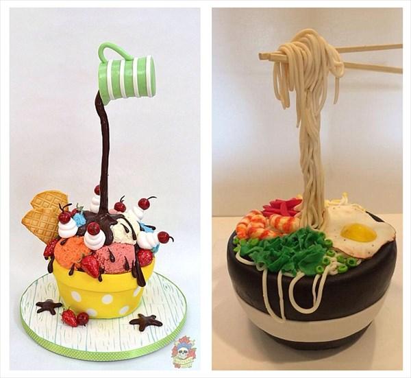 まるで魔法のよう! もったいなくて食べられない重力に逆らったケーキ!!