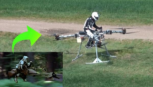 スターウォーズのスピーダーバイクが現実に!? その名は「FLIKE」!