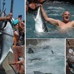 クロマグロのつかみ取り! イタリアの海辺町で開かれるマグロ祭り!!