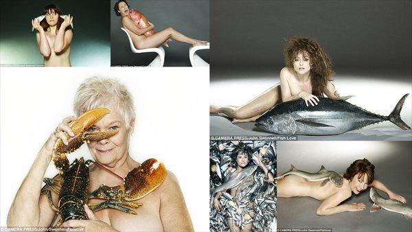 海外有名スターが魚とヌード!? 「Fish love」キャンペーン!