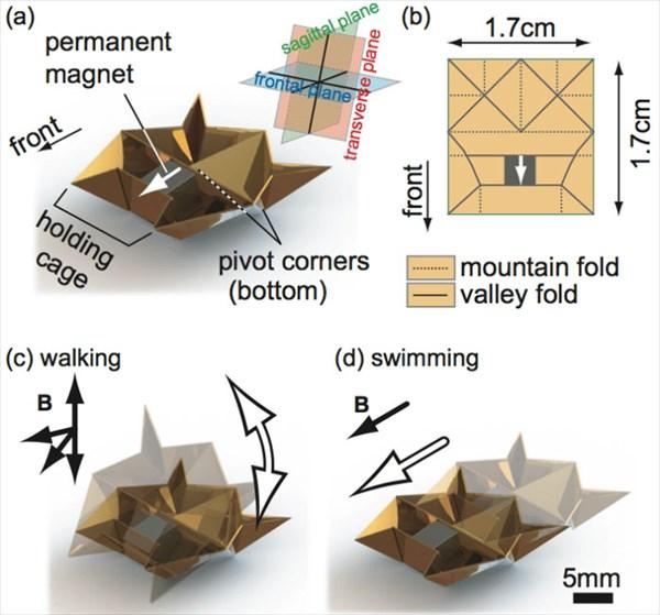 極小折り紙ロボット!! 進む・泳ぐ・発掘・運搬・登る 何でもできる!
