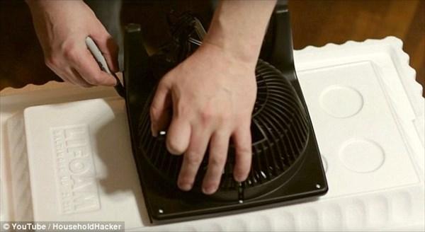 わずか10分・費用8ドルで自作のエアコンを作る! 日本でも簡単に作れる!!