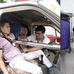 中国で車が事故! 直径6センチの金属製ポールが胸に突き刺さるも奇跡的に生還!