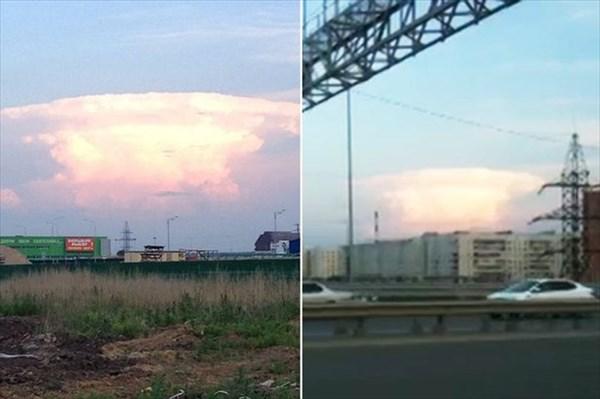 ロシア上空に現れたキノコ雲 ネットにアップされ「世界大戦勃発だ」と騒ぎに