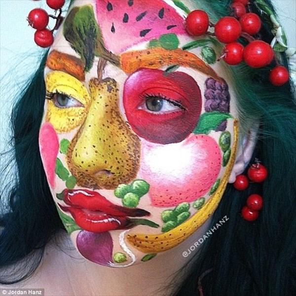 アーティストのヨルダン・ハンツによる最新フェイスメイクアートがすごい!!