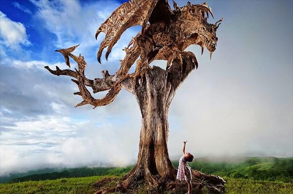 超絶のクォリティ!流木で創り上げたドラゴン・馬・ライオンetc 20選!