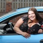 Nカップの巨乳女性 車と正面衝突する事故に合うも胸がクッションとなり生還!