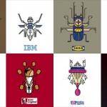 世界的な有名企業のロゴを昆虫風のアイコンに! 作品15選!!