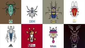 なぜ虫に!? 世界的な有名企業のロゴを昆虫風のアイコンに! 作品15選!!