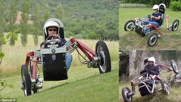 クモ+車=究極のオフロードカー!? クモみたいな車「スウィンカー」がすごい