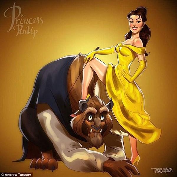 アンドリュー・タルソフが描く 大人の色気たっぷりなディズニーヒロイン!!