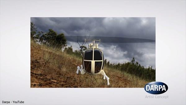岩場や傾斜にも着陸可能! 4本足を持つ次世代ヘリコプター!!