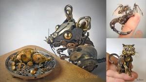 金属に宿った命! 時計のパーツからつくられた動物たち!!