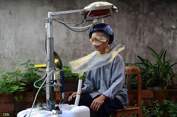 わずか5分で洗髪、そして乾燥まで!! 中国人男性が開発した自動洗髪乾燥機!