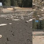 原因不明! カリフォルニア州の湖が一晩で干上がる! 大量の魚が死に悪臭が