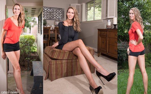 腰から足までの長さ124センチ!! アメリカで最も長い脚を持つ女性!