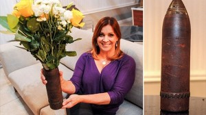 不発弾を30年間花瓶として使用していた女性 ドキュメンタリー番組で発覚