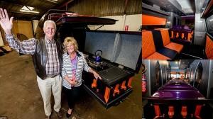 霊柩車をキャンピングカーに改造した男 愛車の名前は「死神」で棺桶キッチン付