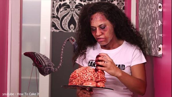超リアル! ヨランダ先生の「脳みそケーキ」お料理教室! 是非ハロウィンに!