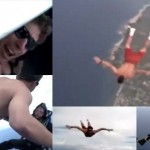 「俺の命は預けたぜ!」パラシュート無しでスカイダイビングをする命知らず!