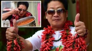 辛いもの大好き! 唐辛子を毎日2.5キロ食べる中国の「チリ・キング」