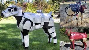 犬からしたらはた迷惑?ストームトルーパーにアイアンマン! コスプレ犬!!