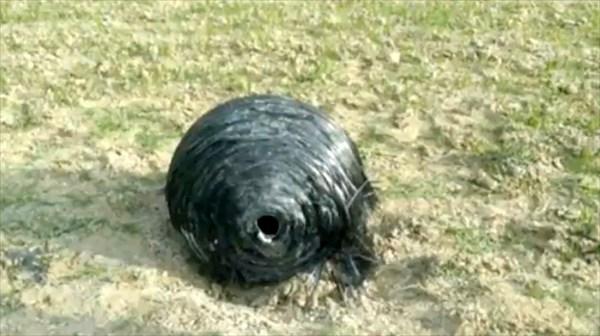スペインの牧場に宇宙から謎の球体が落ちてきた! 宇宙ステーションの落下物?