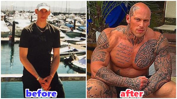 ヒョロガリだった男性が本気の肉体改造 筋肉で体重2倍!マッチョな男に変身!