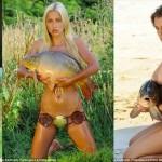 なぜかドイツでバカ売れ! 美女とコイ(鯉)がコラボした謎カレンダー