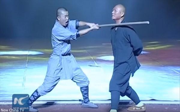 「首を棒でパーン!」気孔があるから無問題! 少林寺武術フェスティバル開催!