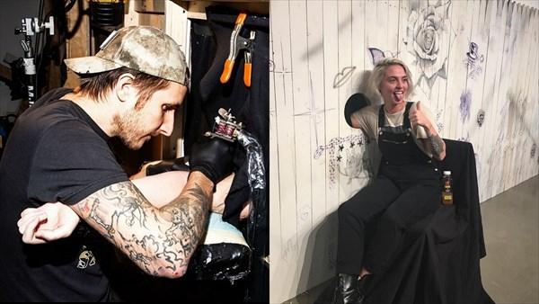どんなタトゥーかは完成までのお楽しみ! 穴に腕をいれる無料タトゥーサービス