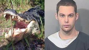アメリカフロリダ州で、逃亡中の強盗犯がワニに食われる事件発生!