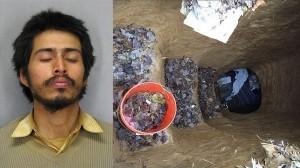 公園に地下4.6m 寝室とリビング付きの穴を掘って住んでいた男が逮捕される