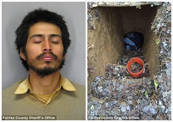 公園に地下4.6m 寝室とリビング付きの穴を掘って住んでいた男が逮捕