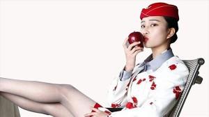 客室乗務員がキスしたリンゴ 中国のオークションサイト「タオバオ」で出品中!