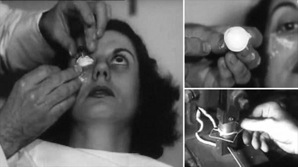 約70年前のコンタクトレンズの作り方が、ホラー映画レベルの不気味さ!