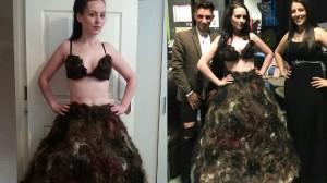 陰毛を集めて「陰毛ドレス」を作った女性!次回作のために精子提供を呼びかける