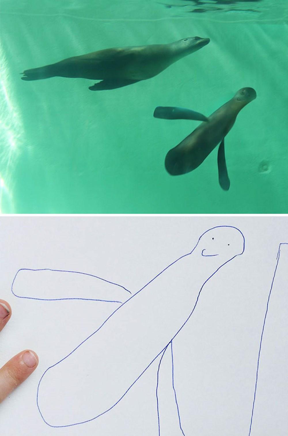 6歳の息子のイラストを父親がフォトショで再現したらティムバートン感が凄い