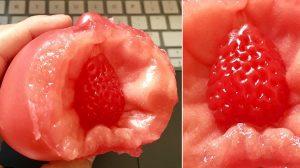 中国のスーパーマーケットで購入! トマトの中からイチゴが出てくる
